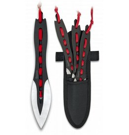 Albanoix Throwing knive - 3 pc - black/red
