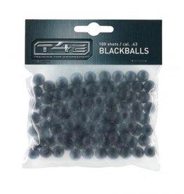 Umarex T4E Black Balls 0,80 g - Kal. 43 - 100 Stück