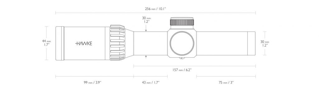 Hawke X-Bow Scope XB30 Pro 1-5×24 SR - IR