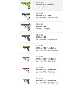 Walther P22Q 9 mm P.A.K. - 9 different models to choose