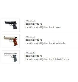 Beretta M92 FS Co2 Kal. 4,5 mm (.177) Diablo  - 4 Modelle zur Auswahl