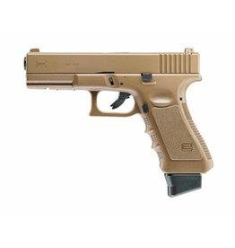 Glock 22  FDE Federdruck - 0,50 Joule - dark earth