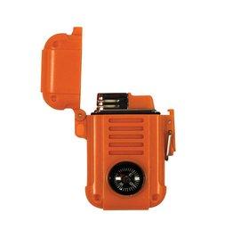 UST Brands Wayfinder Lighter - Sturmfeuerzeug mit Kompass - orange