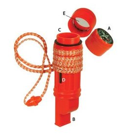 UST Brands 5-in-1 Survival Tool - orange