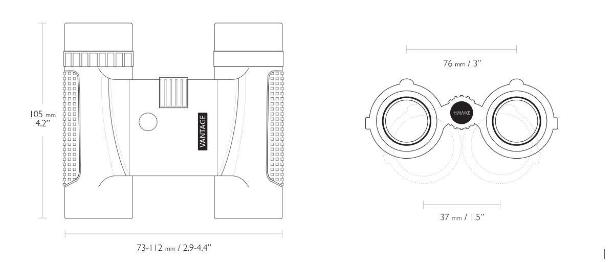 Hawke  Hawke Vantage 10×25 Fernglas - grau