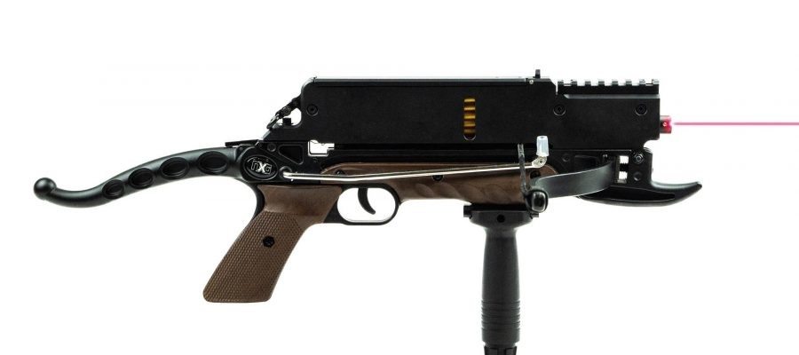 Steambow Pistol Crossbow Stinger Laser with 6 rounds magazine - BK