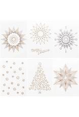 Rico Design Postkaarten om te borduren kerst 6st.