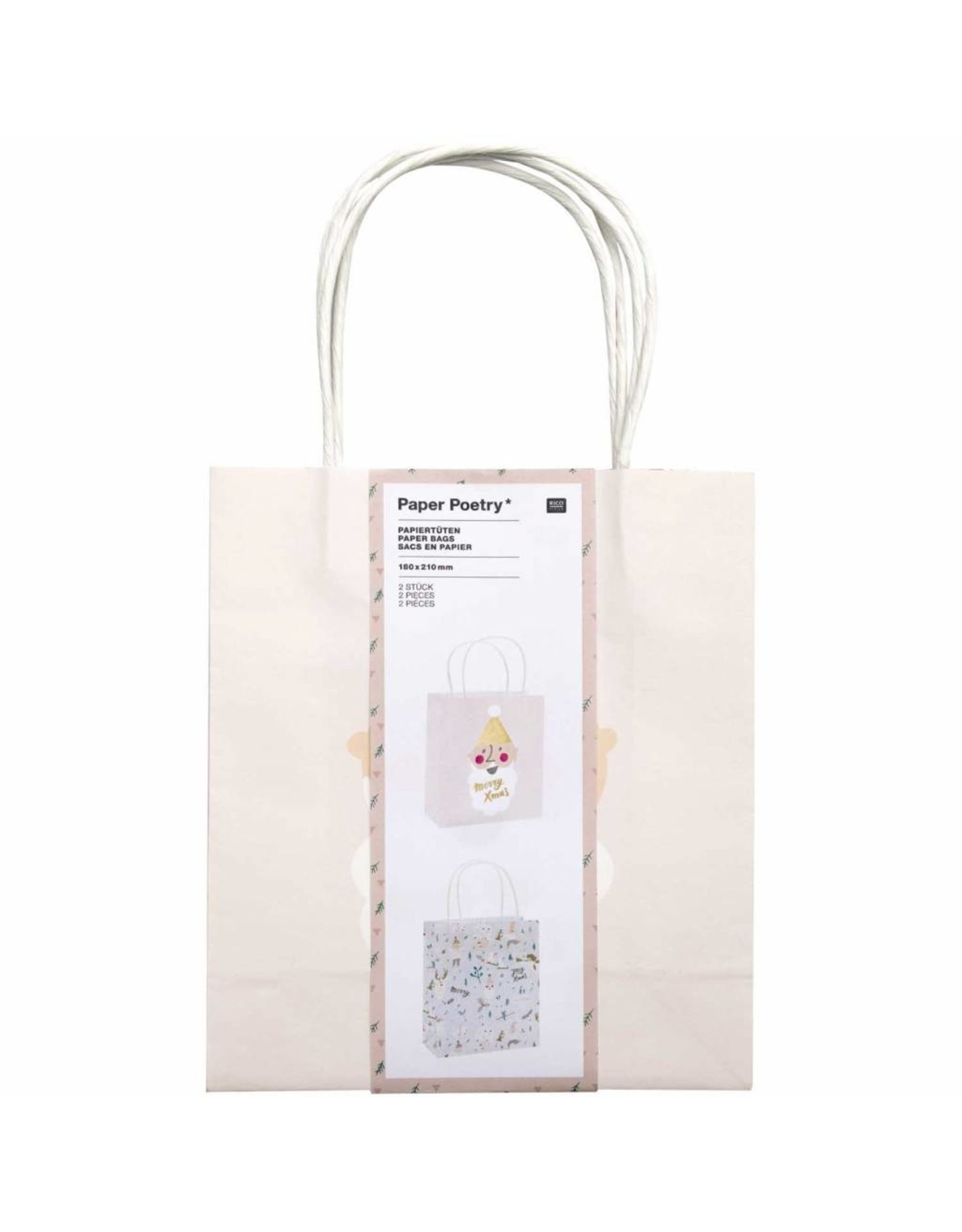 Rico Design Papier zakken pastel 2stk