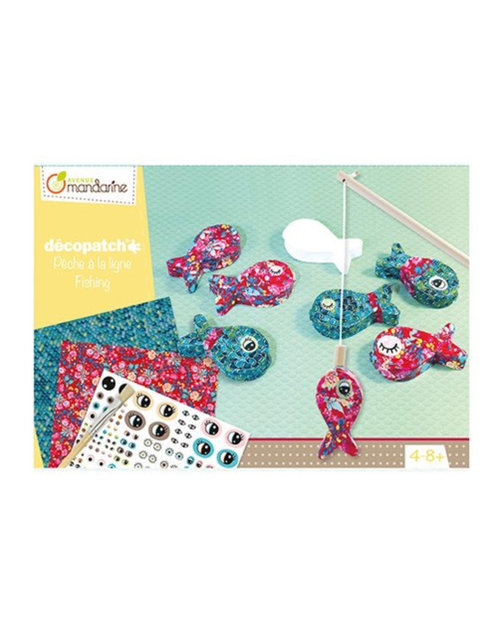 Avenue Mandarine Creatieve box Visspel decoupage