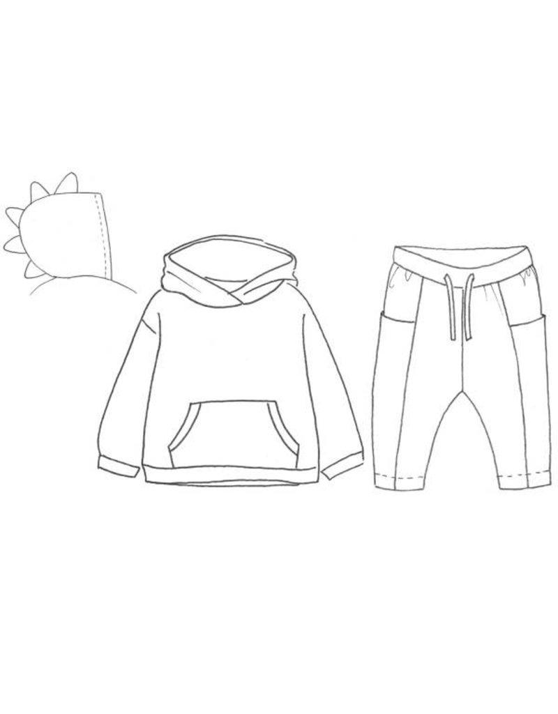 Katia L6 - Patroon Sweater met capuchon en broek