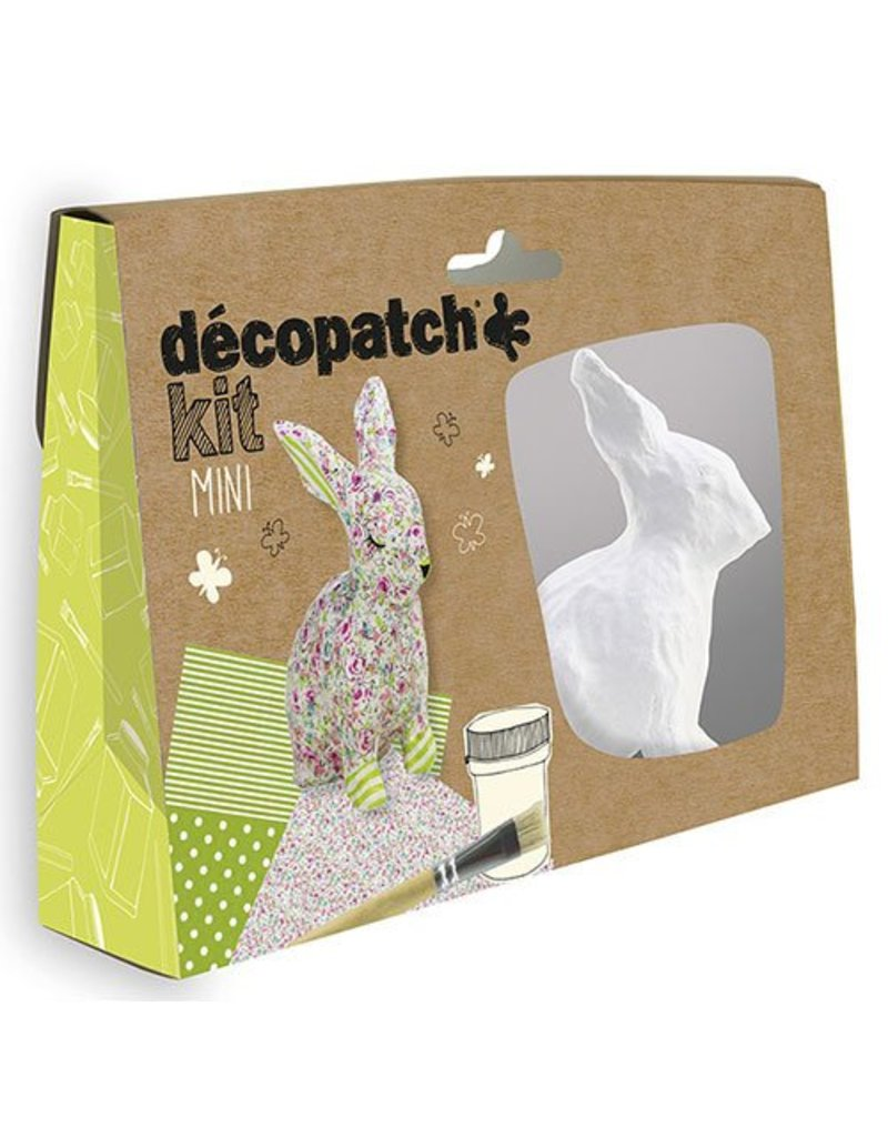 Decopatch Mini Kit Konijn Décopatch Hobby Kiekeboe