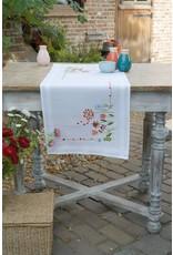 Vervaco Tafelloper borduren 40x100cm bloempjes