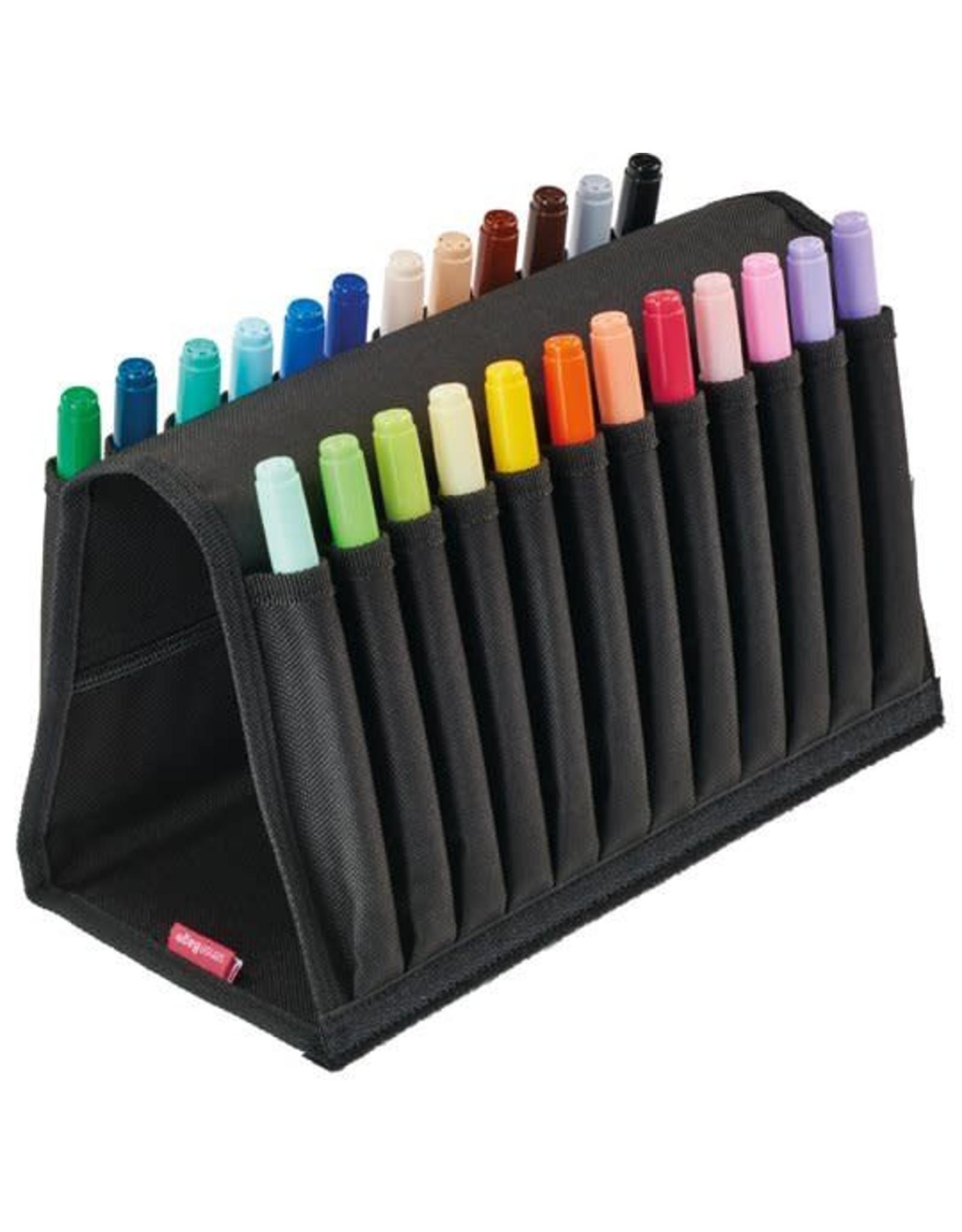 Sensebag etui  voor 24 markers zwart