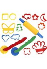 Creativ Company Uitsteekvormen en gereedschap, afm 3,5x3,5-7x9 cm, diverse kleuren, 15stuks