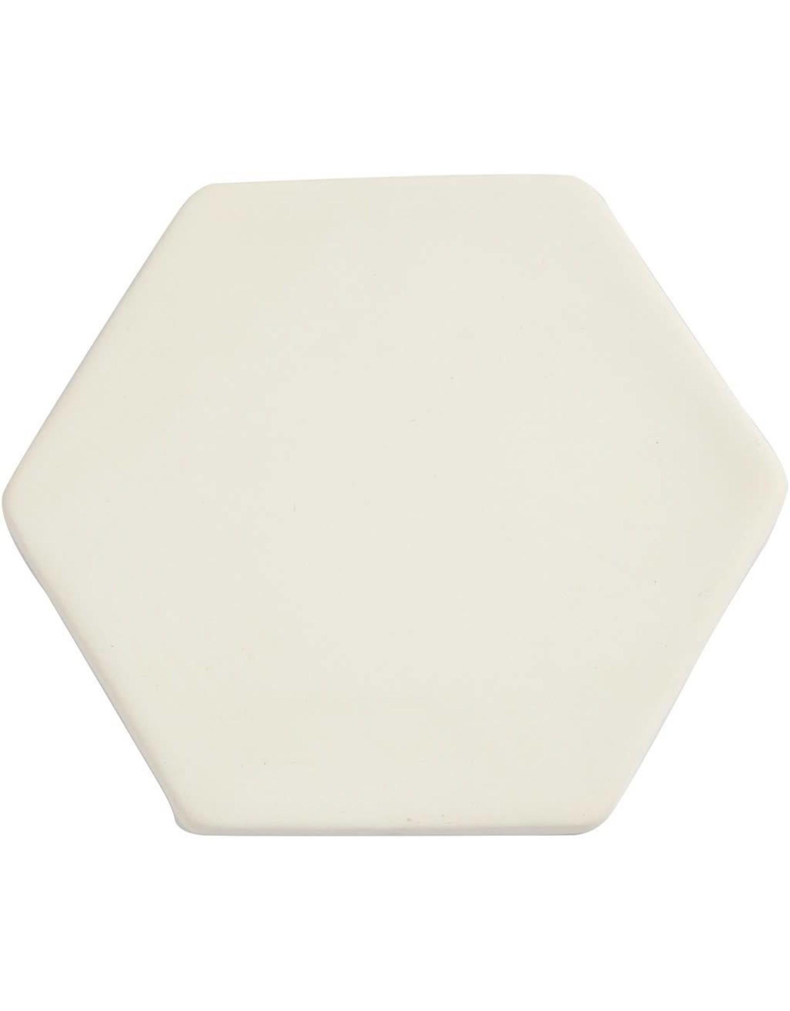 Creativ Company Kunst tegel, d: 13 cm, dikte 0,7 cm, wit