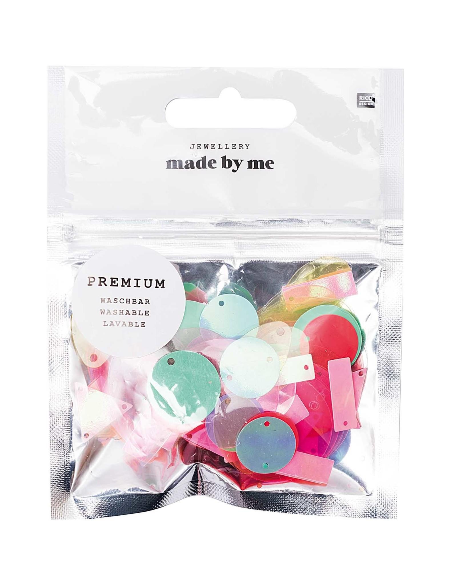 Rico Design Pailetten mix oorringen wasbaar