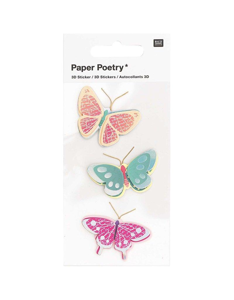 Rico Design 3d sticker vlinder motief