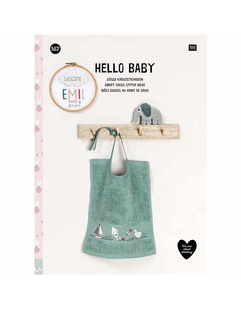 Rico Design Boek Hello baby kruisjessteek