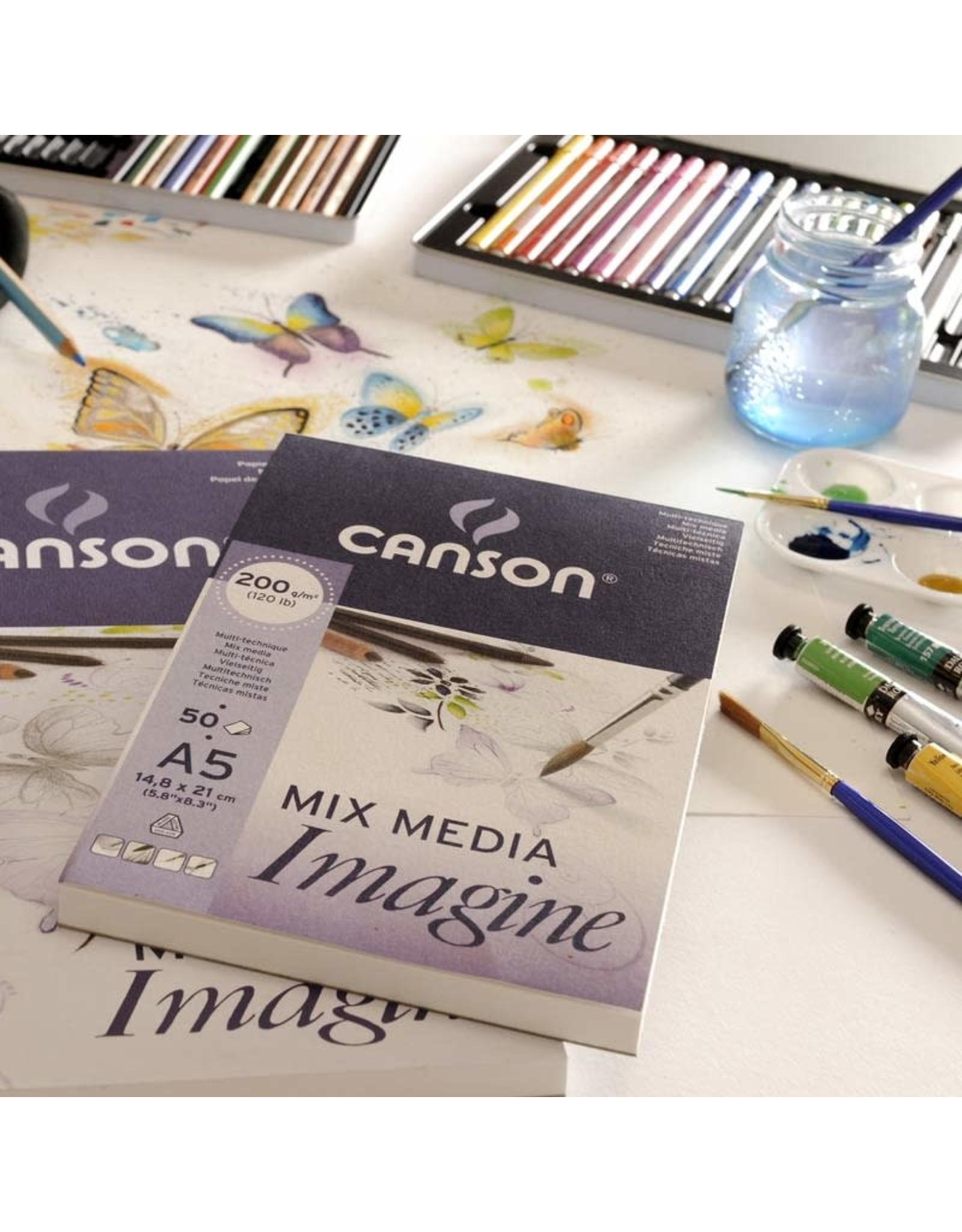 Canson Mix media imagine A5 200gr 50 vellen
