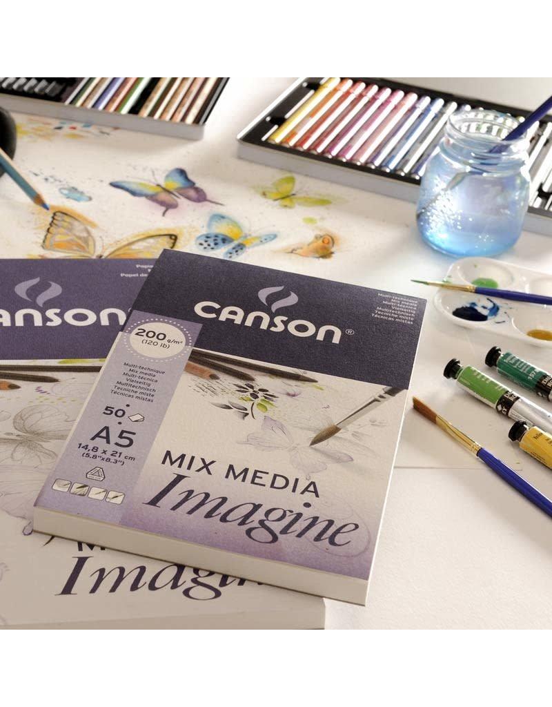 Canson Mix media imagine A4 200gr 50 vellen
