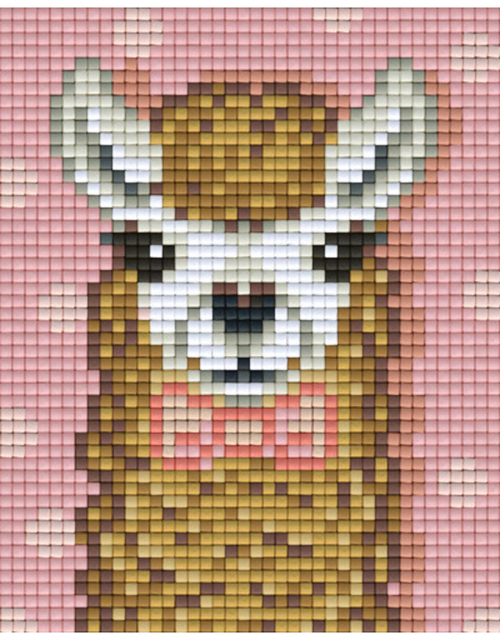 Pixel hobby Pixel mosaic Set lama bruin