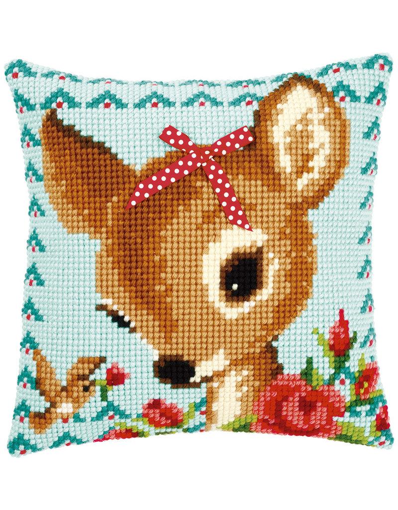 Vervaco Kruissteekkussen pakket bambi