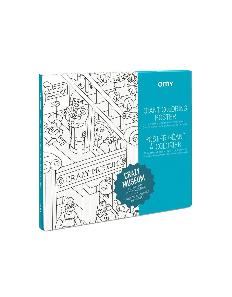 OMY Coloring poster -  crazy museum - 100x70