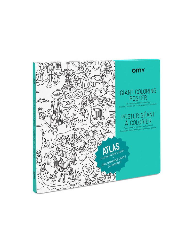 OMY Coloring poster -  atlas  - 100x70