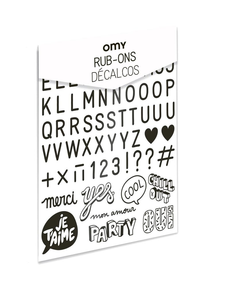 OMY Rub-ons letters