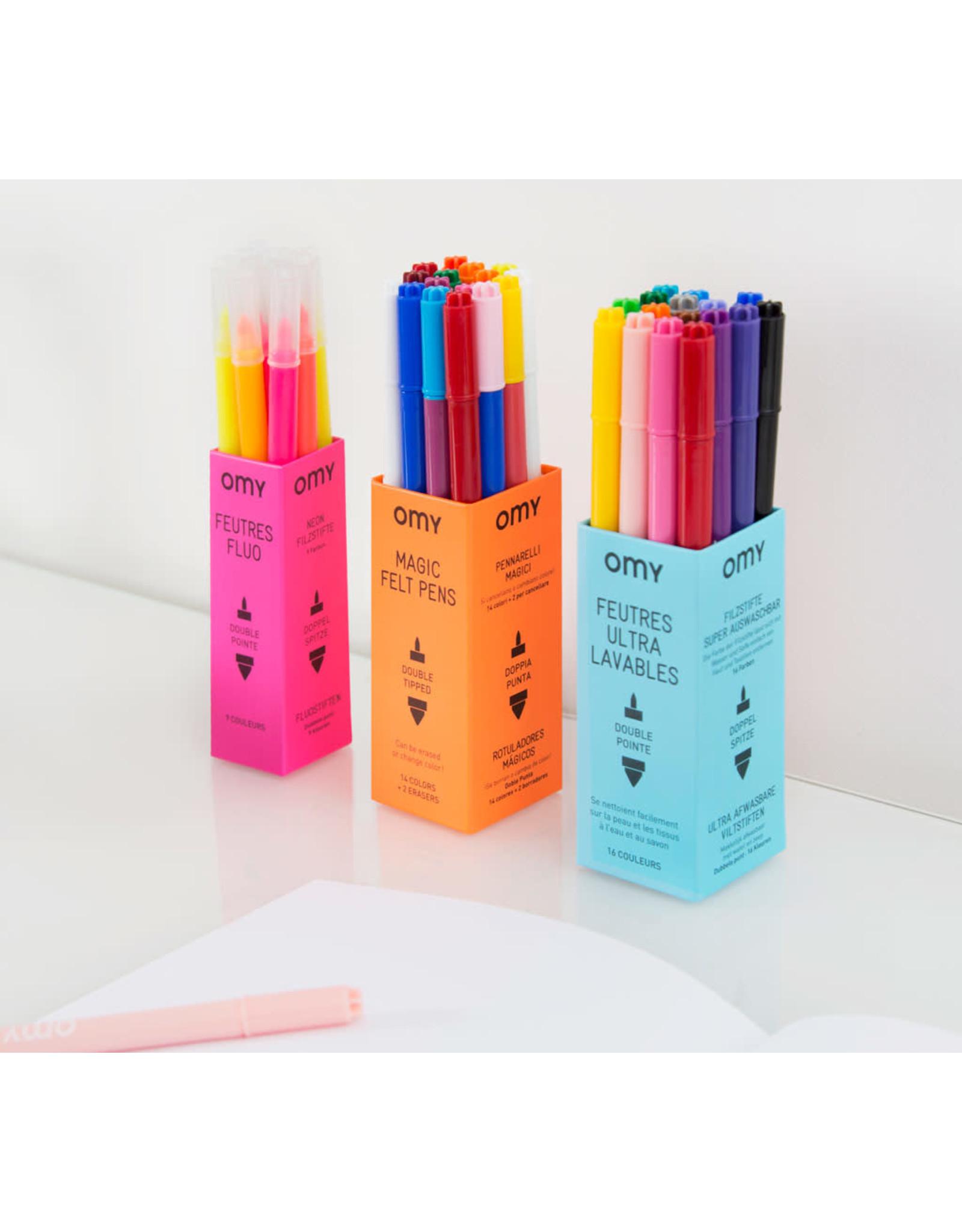 OMY Fluo viltstiften 9 kleuren