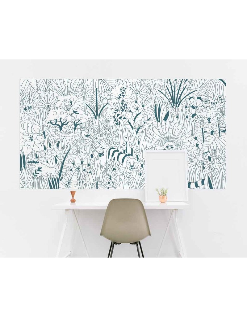 OMY coloring xxl - tropical - 180x100
