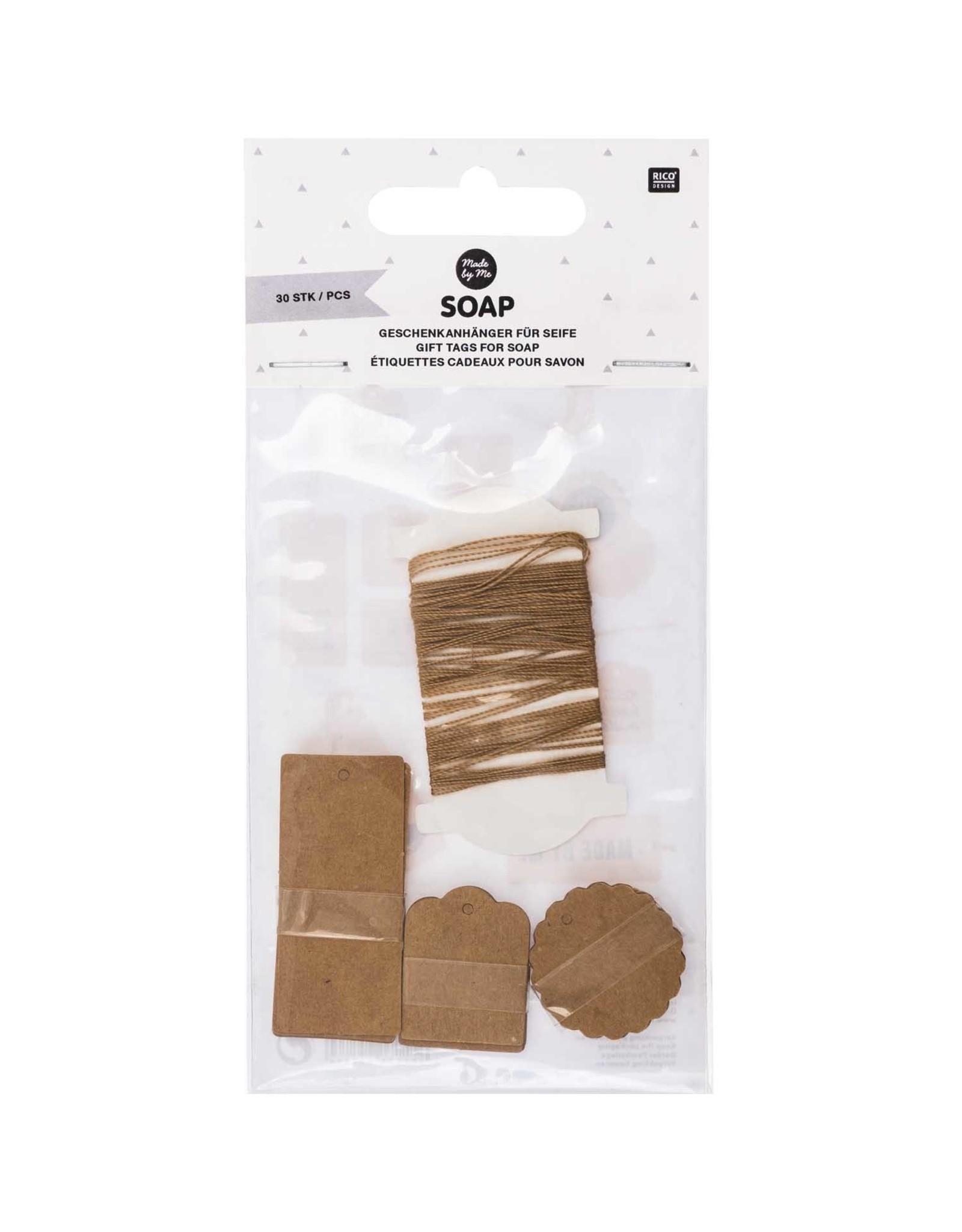 Rico Design Gift tags soap 30stk kraft