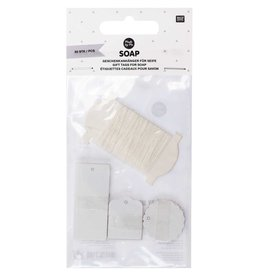 Rico Design Gift tags soap 30stk wit