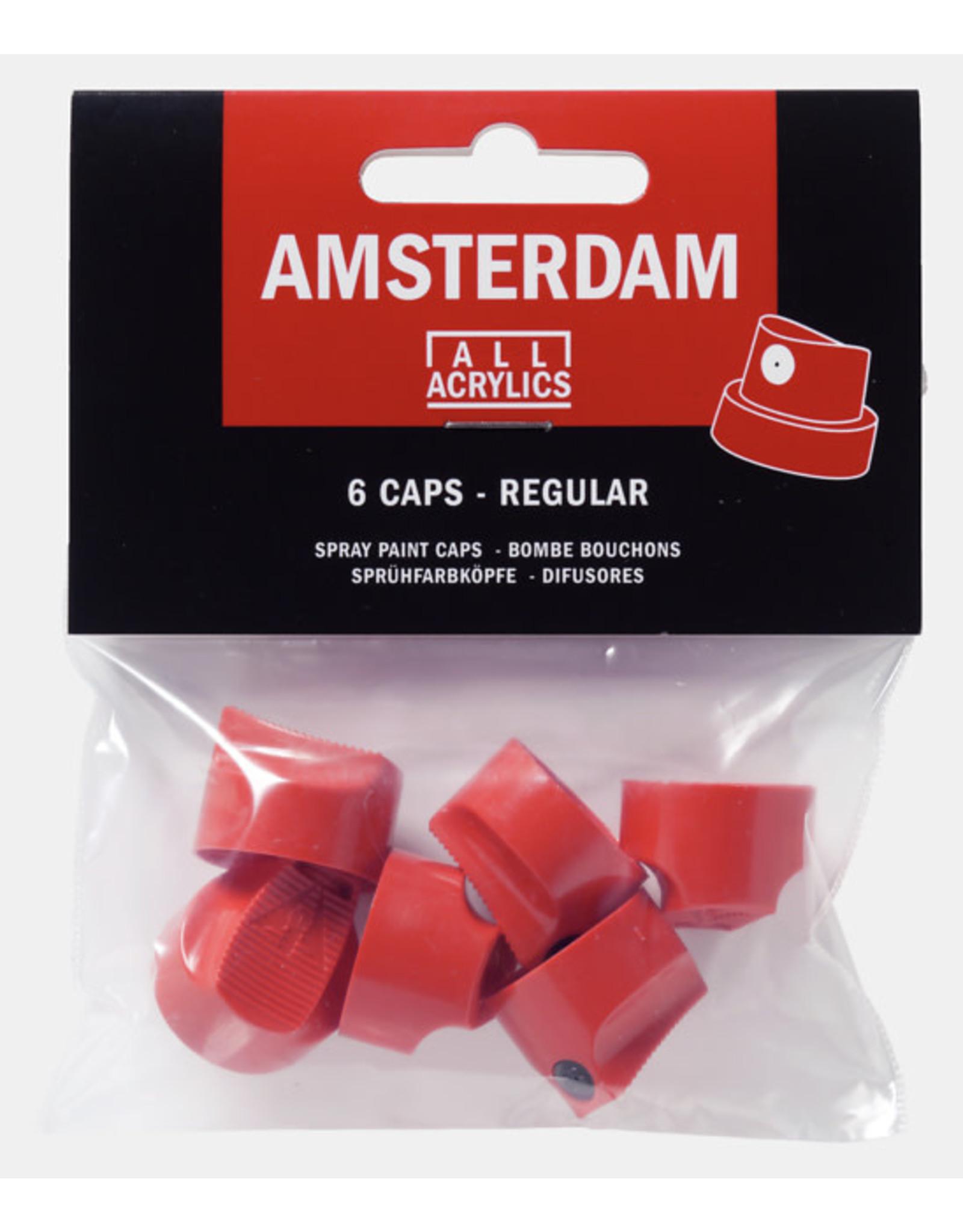 Amsterdam Spray paint caps 6 stuks standaard