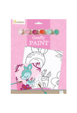 Avenue Mandarine Graffy paint - hert 20x20cm