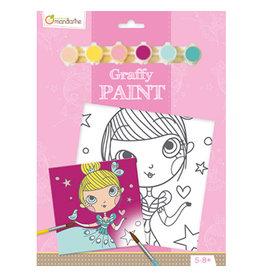 Avenue Mandarine Graffy paint - prinses  20x20cm