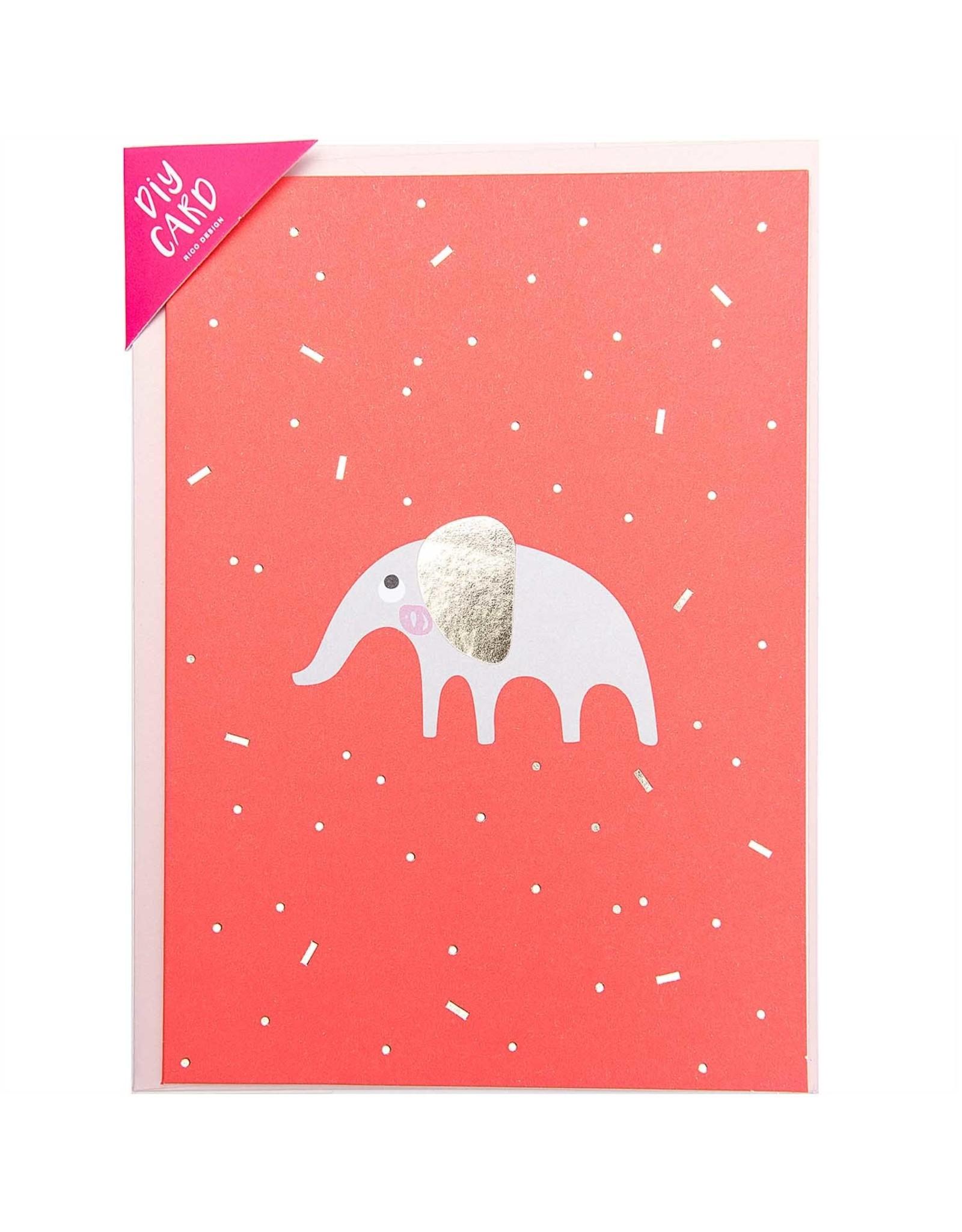 Rico Design Diy kaart Olifant geboorte