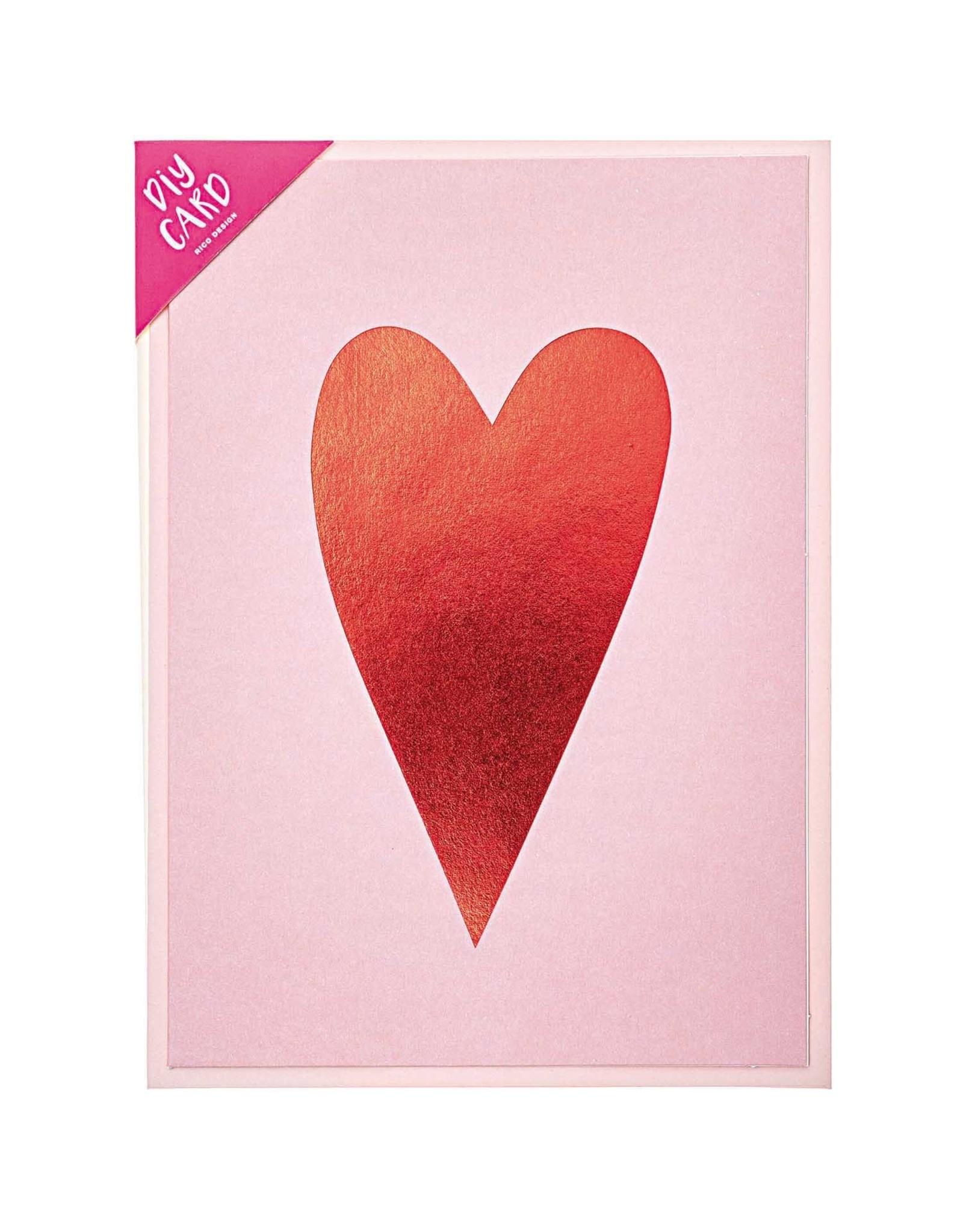 Rico Design Diy kaart Hart rood