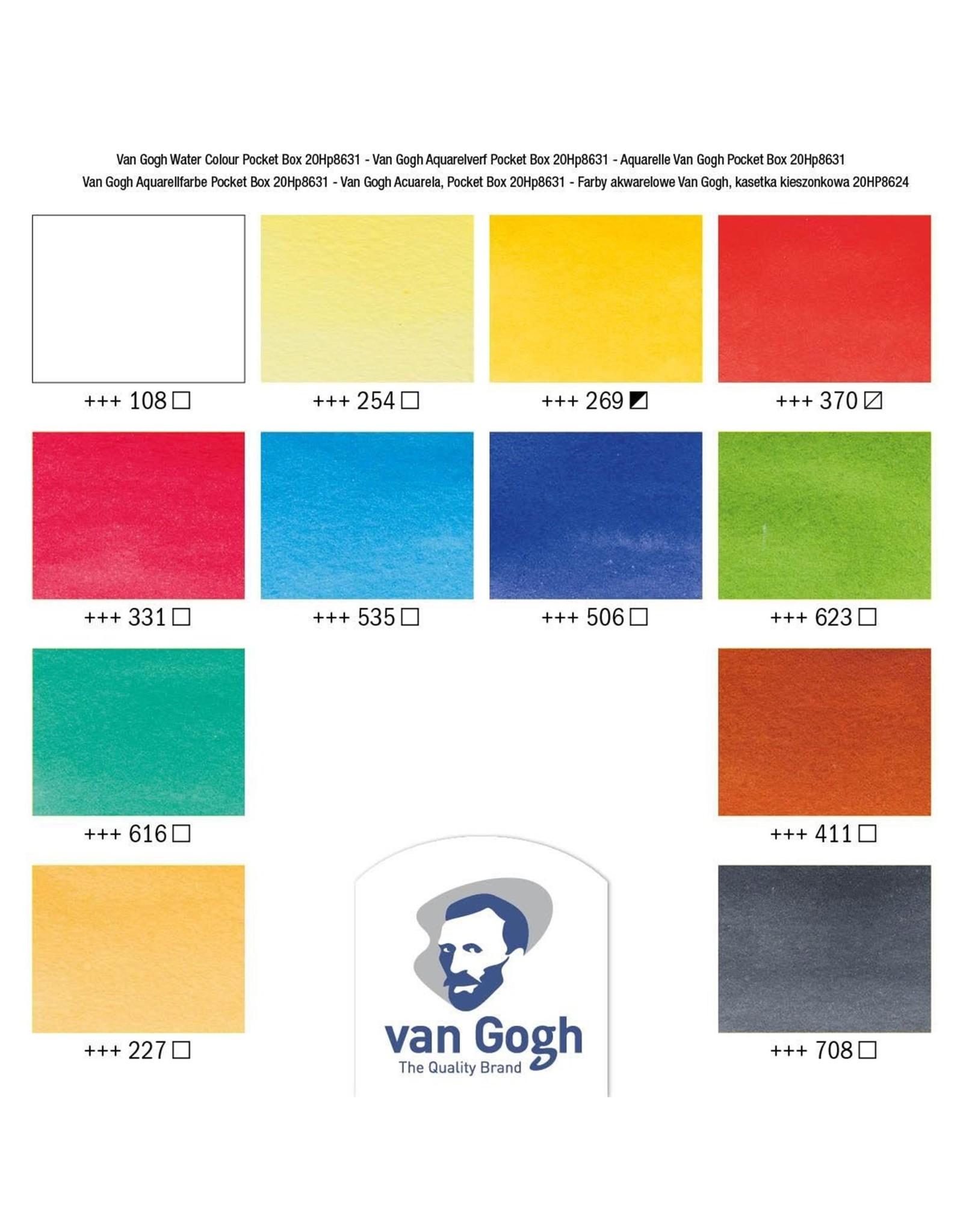 Van Gogh Aquaerlverf Pocket Box 12 napjes