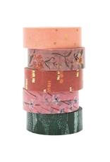 Rico Design Tape set natuur bloemen 1,5cmx10m 5st