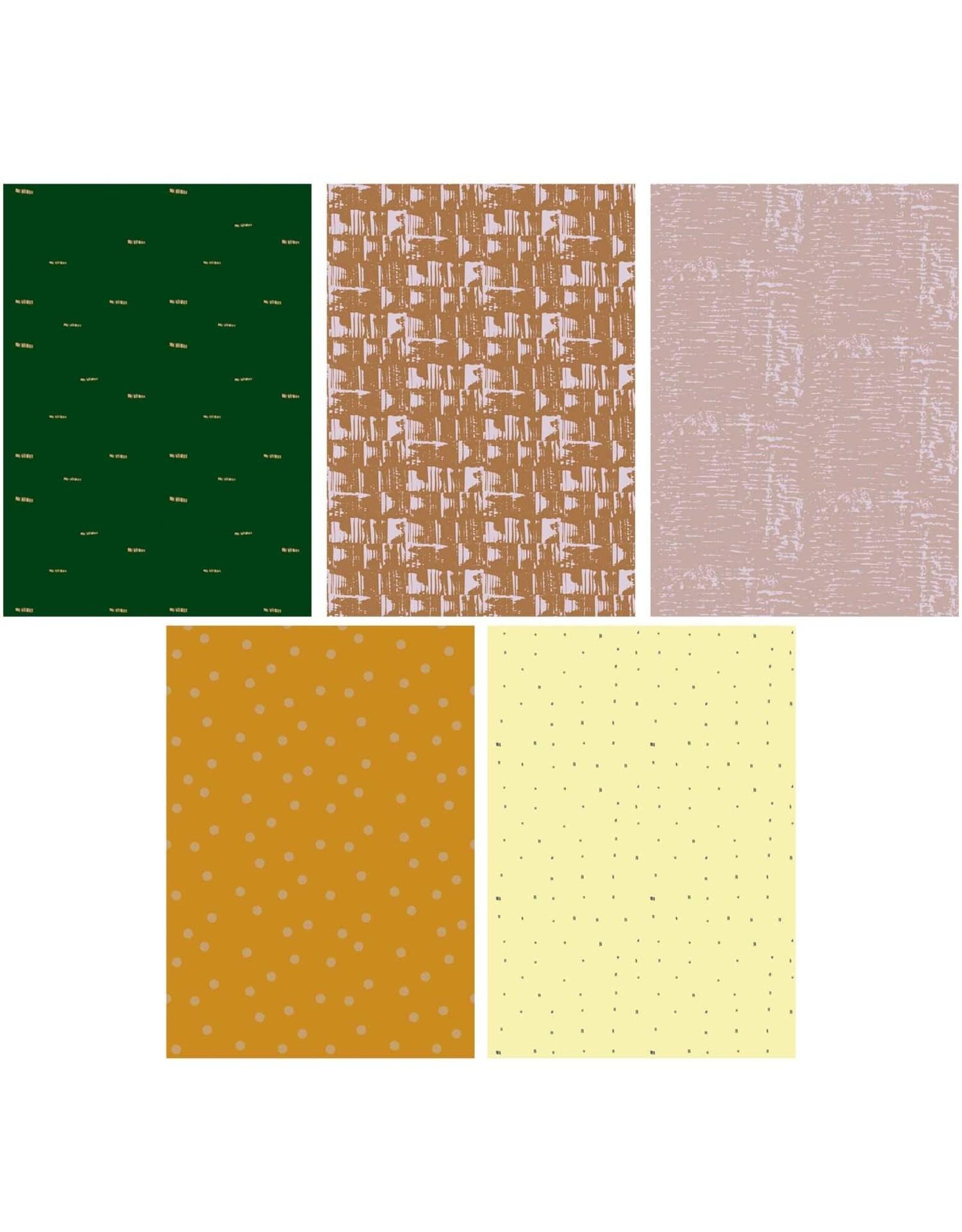 Rico Design Motiefpapier natuur goud/neon A4
