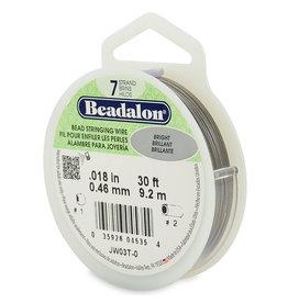 Beadalon staaldraad met nylon 0.46mm x 9.2 m