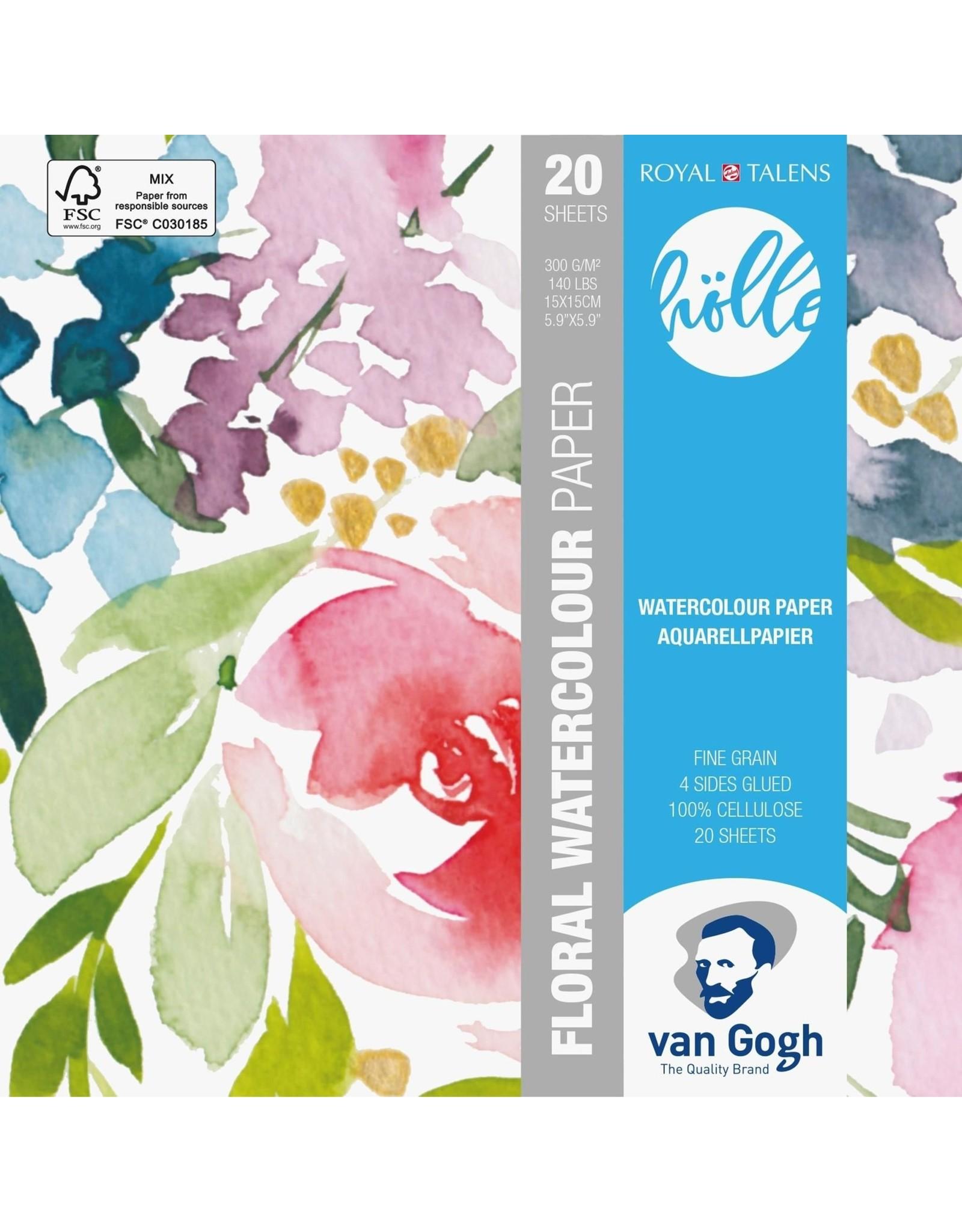 Van Gogh Aquarelpapier frau holle 15x15 300gr