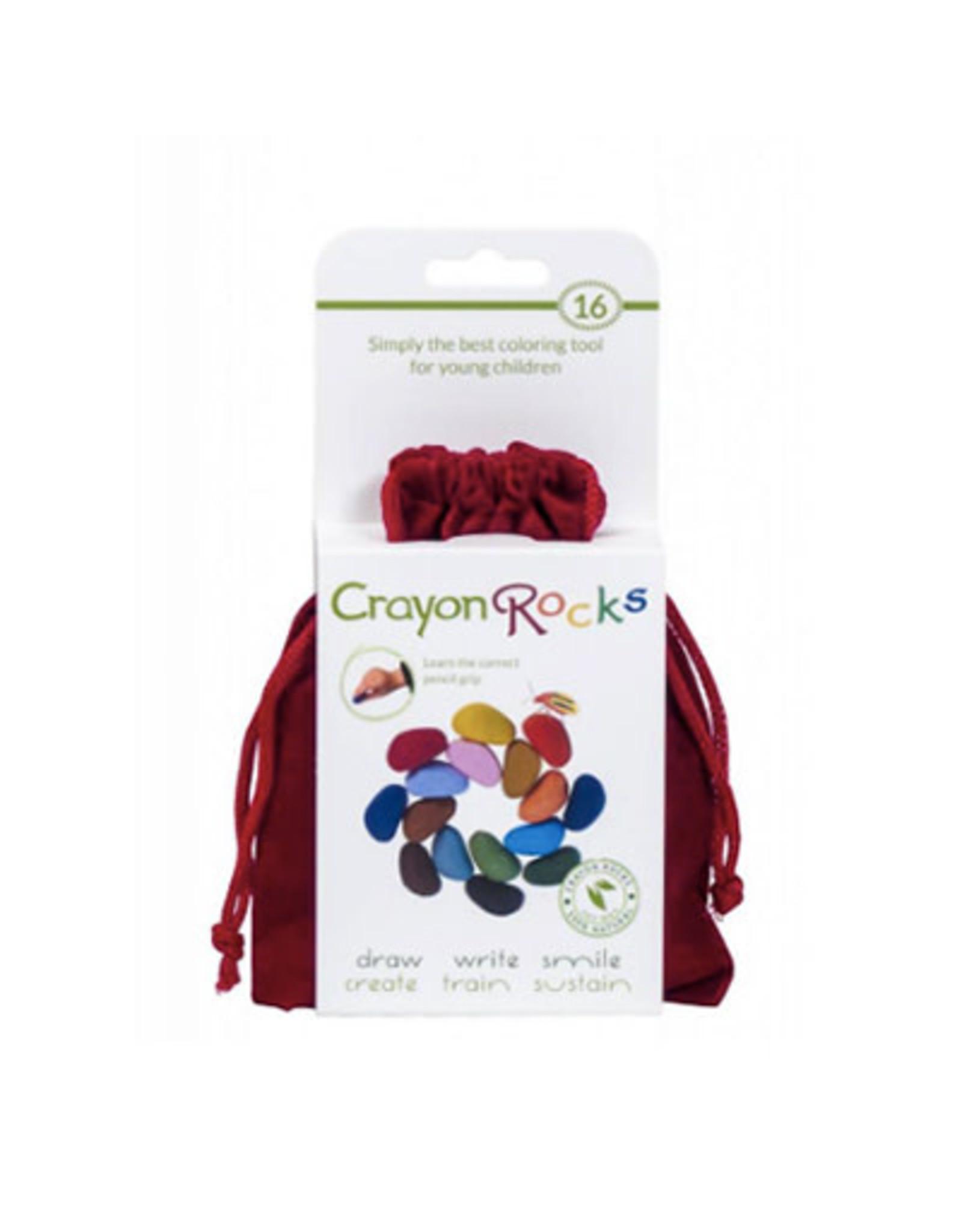 Crayon Rocks 16 crayon rocks in rood zakje