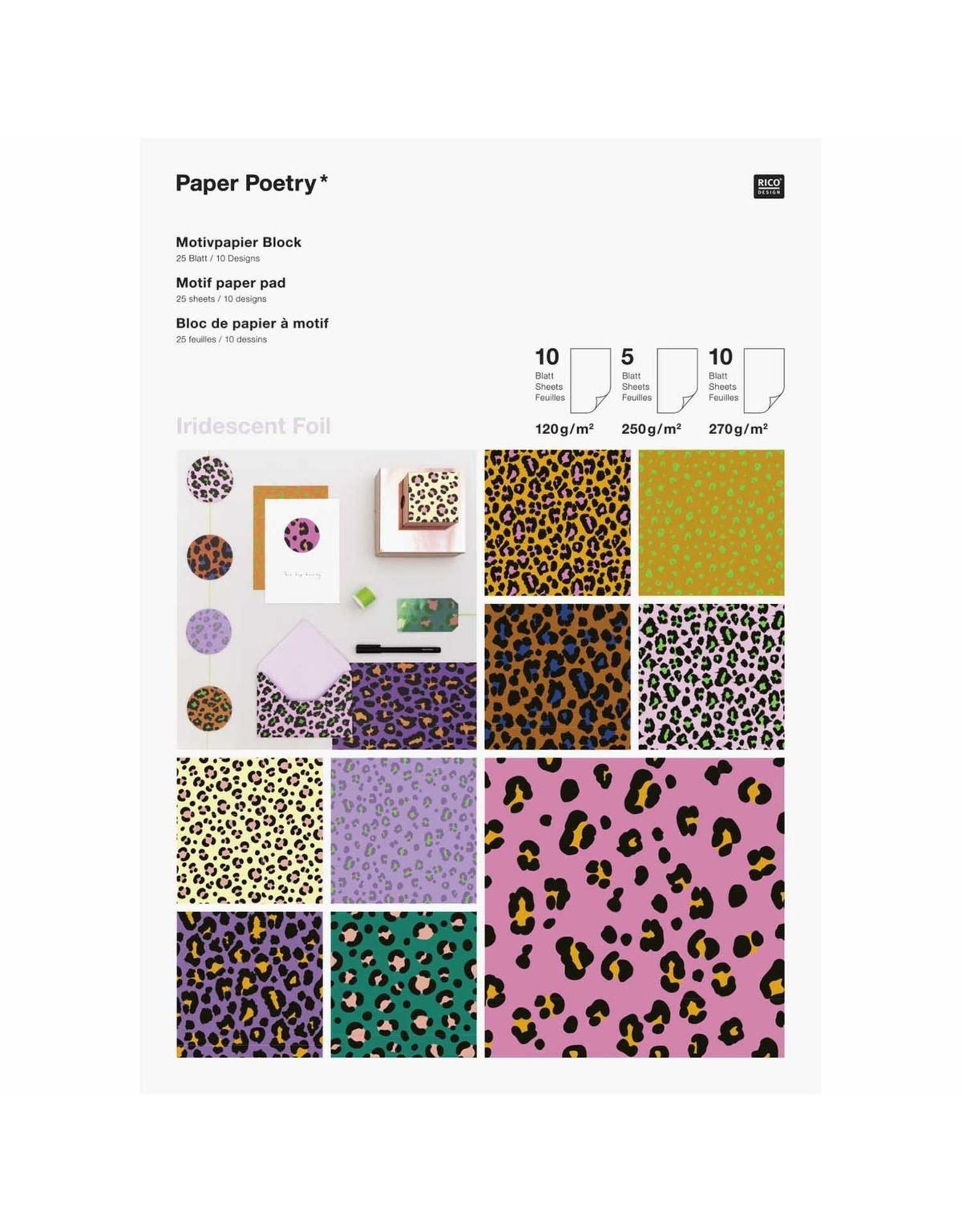 Rico Design Motiefpapier Acid leo