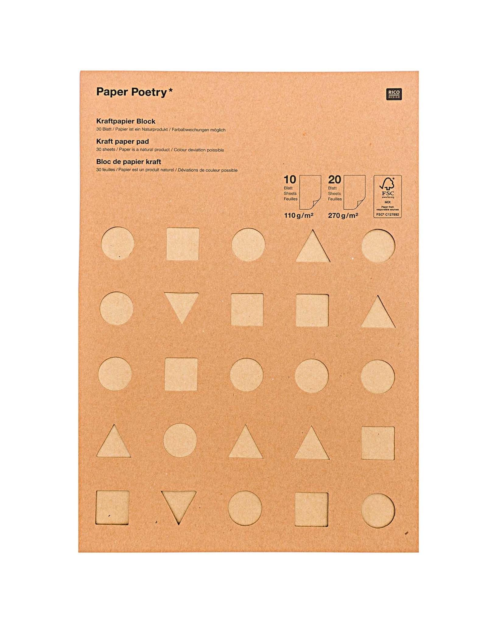 Rico Design Craft papier - mix 110gr & 270gr A4