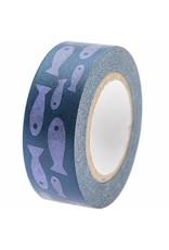 Rico Design Washi tape - vissen blauw