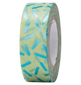 Rico Design Washi tape - groen spikkel