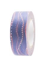 Rico Design Washi tape - golven blauw/roze 10m