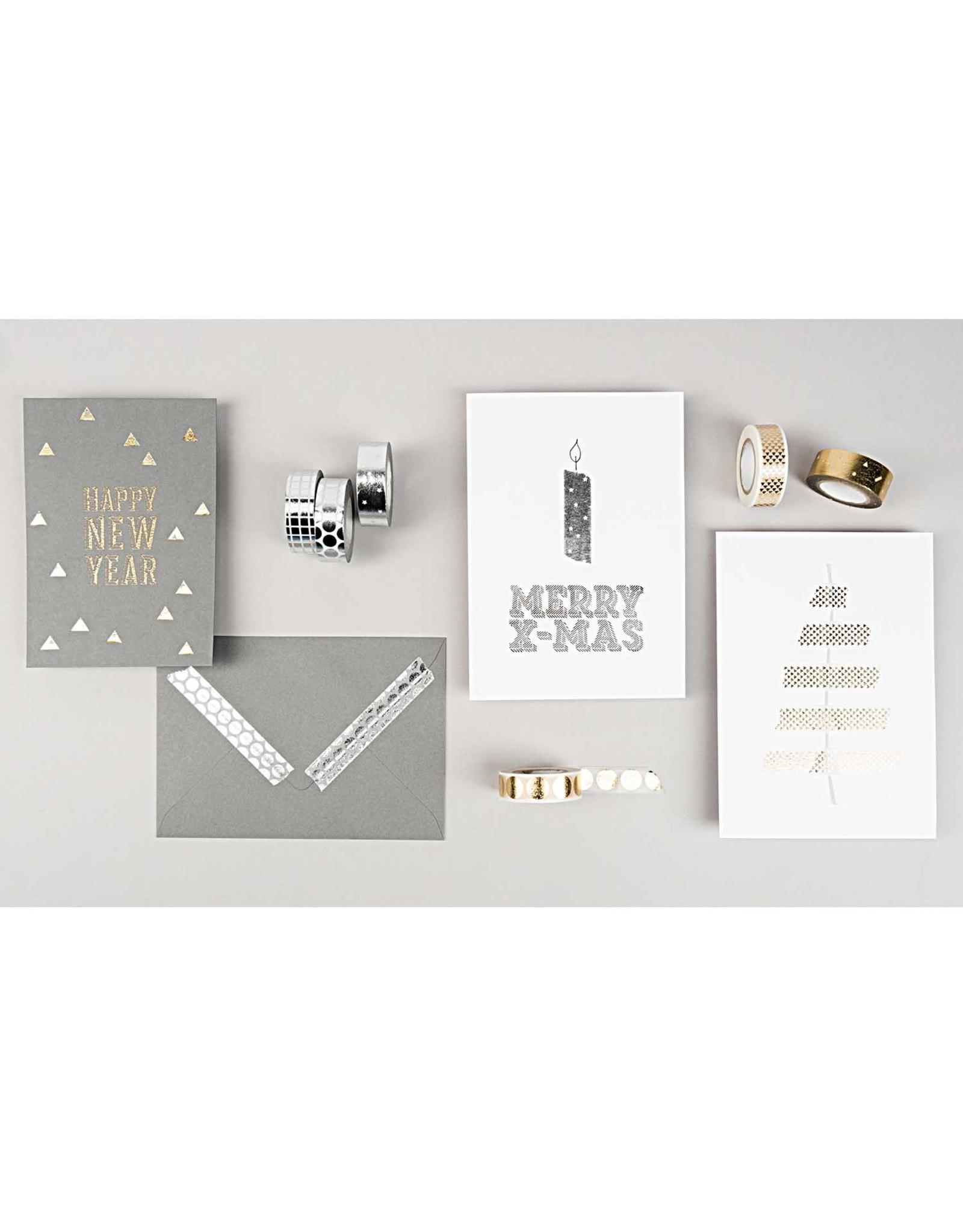 Rico Design Washi tape - goud confetti 10m